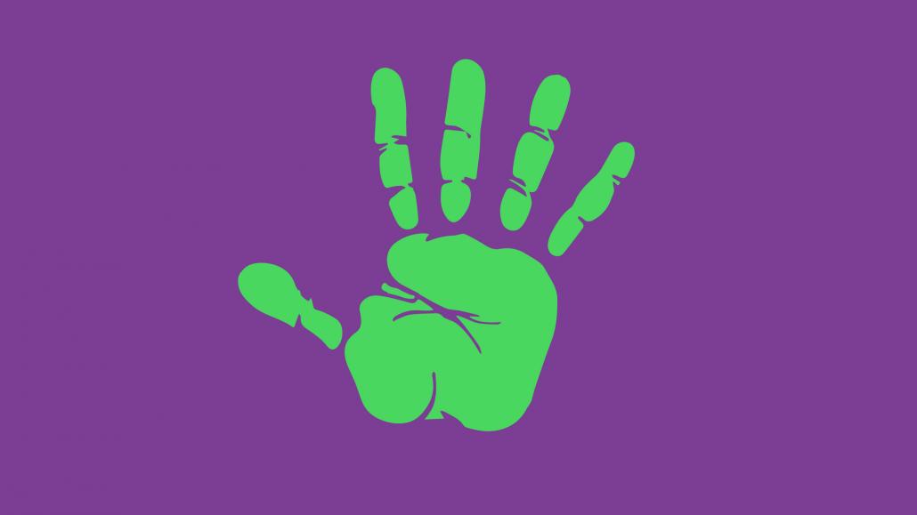 Handprint symbolizing your unique community for giving days