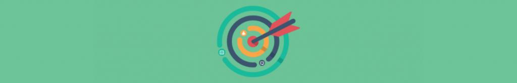 cartoon of target, measuring fundraising campaign success