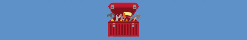 cartoon of a toolbox