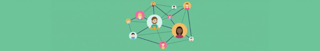 cartoon of network web