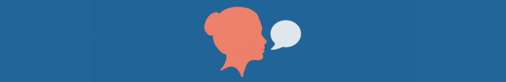 cartoon of person and speech bubble