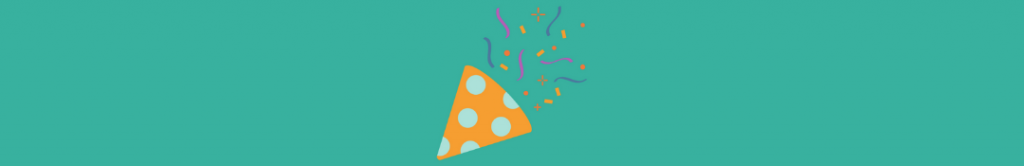 party hat and confetti icons