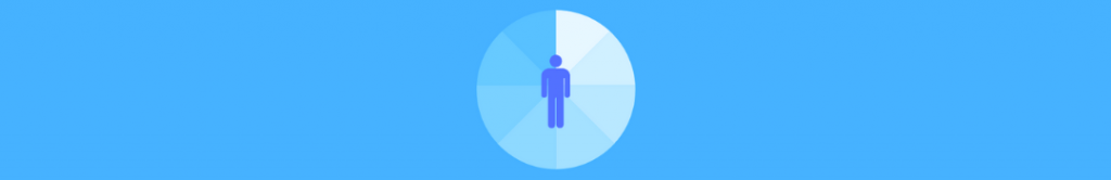 circle chart with person's outline