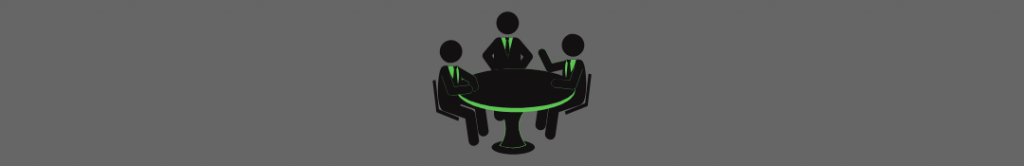 icon of people sitting at a work table, people who might want to do campus crowdfunding