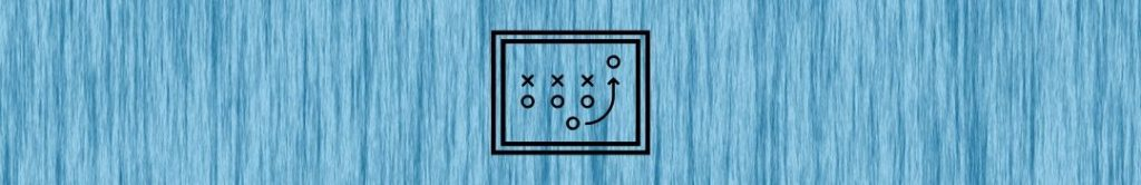 board showing a play, possibly football